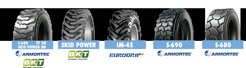Marcas ruedas industriales Armortec, Eurogrip, BKT