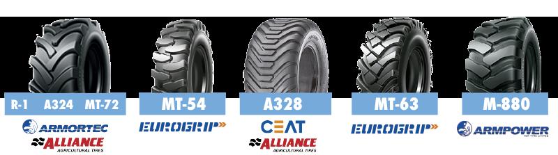 Marcas ruedas Armortec, Eurogrip , Ceat Alliance