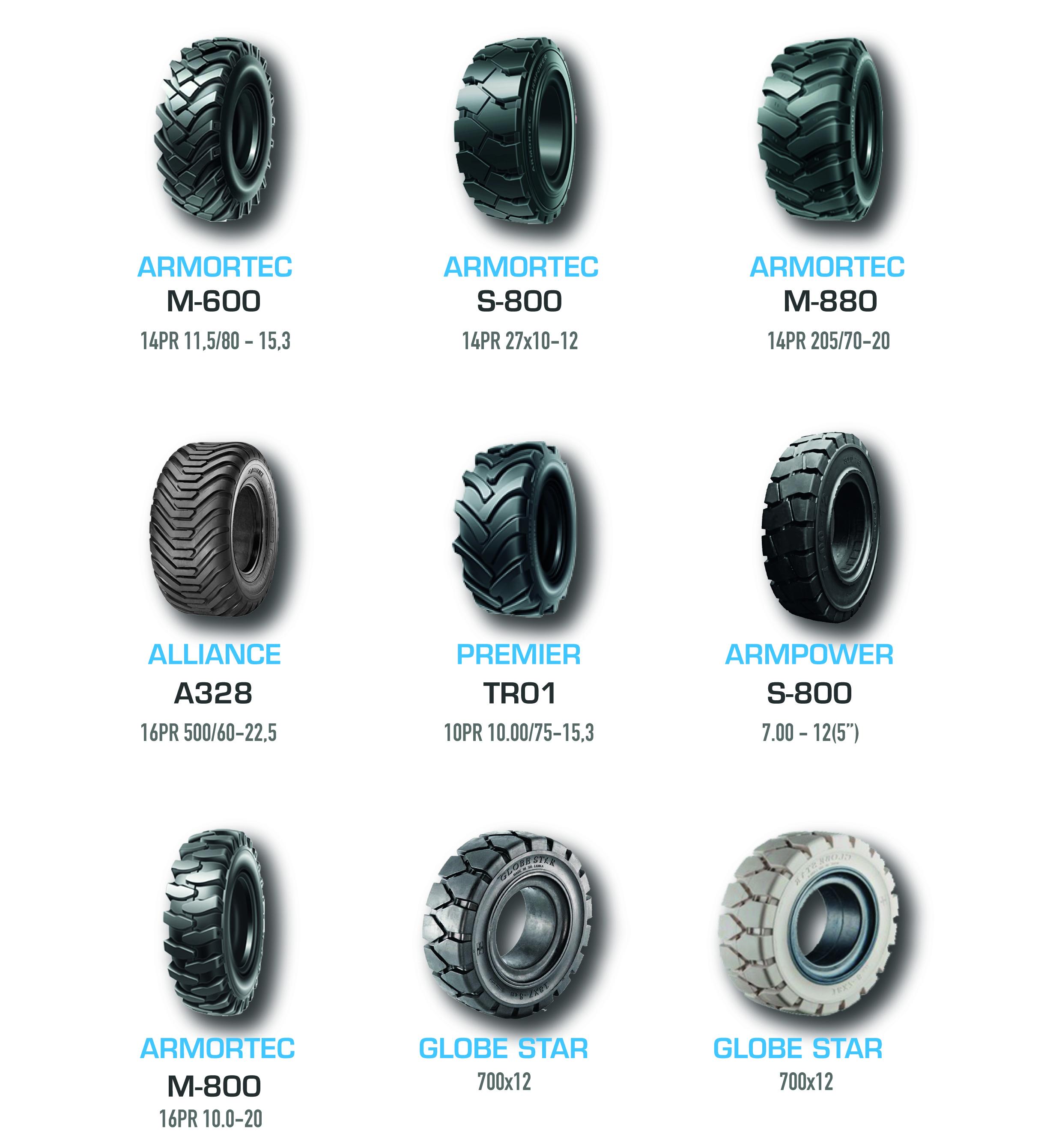 tipos de neumáticos industriales